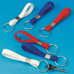 Patriotic Silicone Key Chains