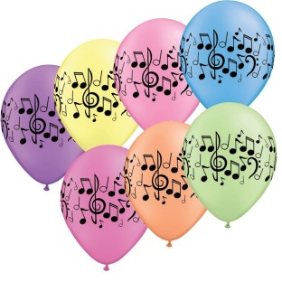 Neon Music Note LTX Balloons (pack of 50)
