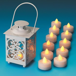 FAUX TEA LIGHTS PK12