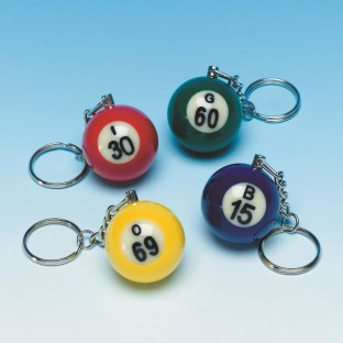 Bingo Ball Key Chain