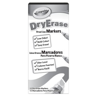 DRY ERASE MARKERS SET OF 12 BLACK