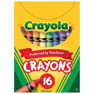 Crayola® Regular Size Crayons, Box of 16
