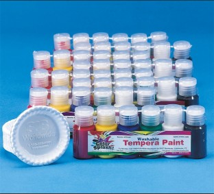 Color Splash!® Washable Tempera Paint Pass Around Pack, 3/4 oz.