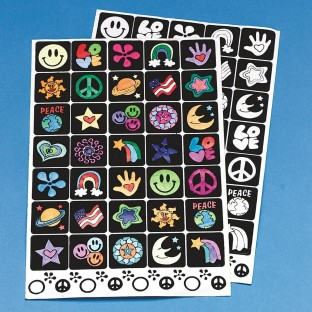 VELVET ART STICKERS PK12 SHEETS