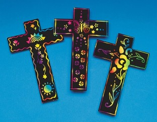 SCRATCH ART CROSS PK/24