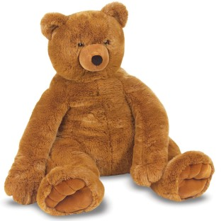 PLUSH JUMBO BROWN TEDDY BEAR