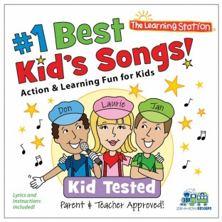 Number One Best Kid's Songs Music CD