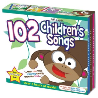 CD SET 102 CHILDRENS SONGS