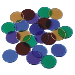 Transparent Counting Chips, 6 Colors
