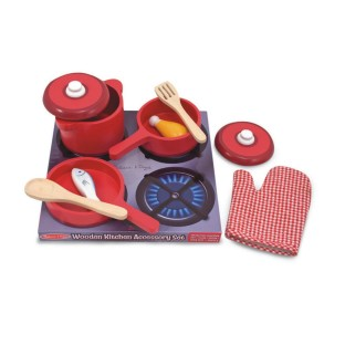 Melissa & Doug® Play Food Wooden Kitchen Accessory Set