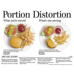 NUTRITION PORTION DISTORTION TABLET ENGLISH