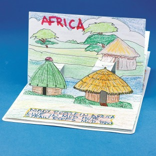 HOMES OF THE WORLD POPUP BOOKS PK6