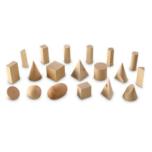 Wooden Geometric Solids Set