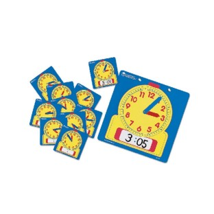 Write & Wipe Clocks, Classroom Set