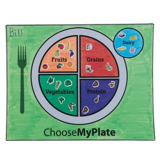 MyPlate Coloring Placemats Craft Kit