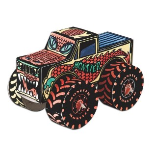 Monster Truck Velvet Art Craft Kit