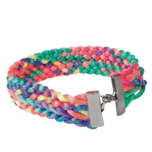 Neon Woven Bracelet Craft Kit