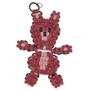 FUZZY BEADED BEAR KIT PK/12