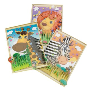 ANIMAL STICKER SCENES 3D PK/12