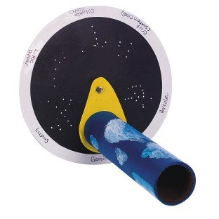 An astronomy lesson and painting/gluing craft in 1!