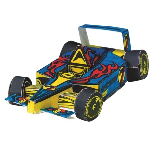 Velvet Art Super Race Car Craft Kit