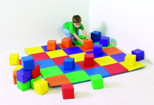 Joey's Matching Mat & Blocks Set