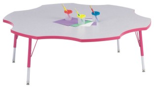 Rainbow Accents® 60 Six-Leaf Table, 24-31