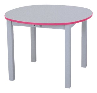 TABLE RND 22IN HIGH BLUE