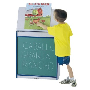 BIG BOOK EASEL CHALKBOARD BLUE