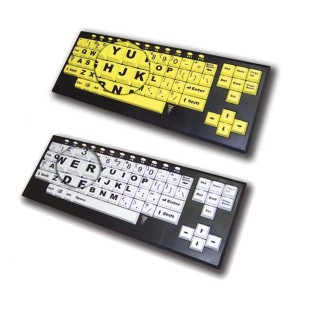 VISIONBOARD2 LARGE KEY KEYBOARD BK/YE