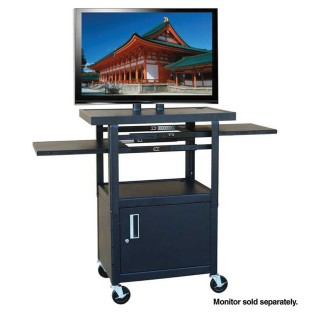 Flat Panel AV Cart with Locking Cabinet
