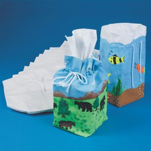 COLOR ME TISSUE BOX COVER  PK/12