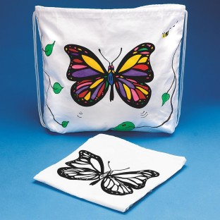Drawstring Bag with Velvet Art Butterfly