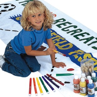 Banner-making brings them together.