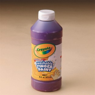 Crayola® Washable Finger Paint, 16oz., Violet