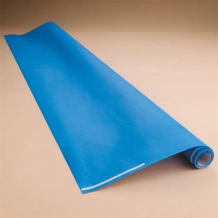 PAPER ROLL FLAME RETARDANT 48X18FT ELECTRIC BLUE
