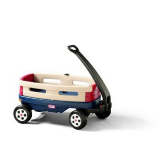 Durable, distinctive, pull-along wagon.