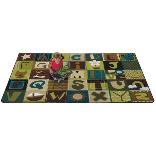Nature Alphabet Blocks Rug