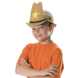 FOAM SHERIFFS HAT KIT PK/12