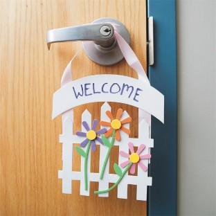 Buy welcome door hanger craft kit at s s worldwide for Nursing home door decorations