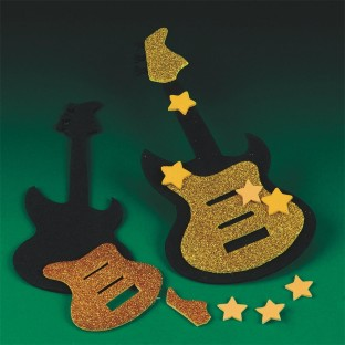 FOAM GUITAR CRAFT KIT PK/12