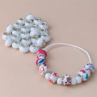 GLASS COLLECTIBLE BEADS PK/60