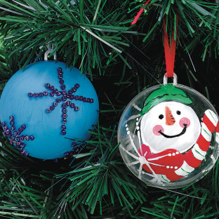 3 IN. CLEAR SNAP TOGETHER ORNAMENT