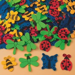 Color Splash!® Foam Shapes w/ Adhesive – Bugs and Butterflies, 400 pcs.