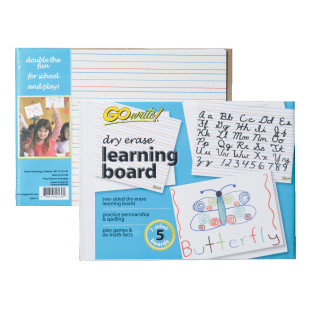 GOWRITE DRY ERASE LEARNING BOARD PK/5