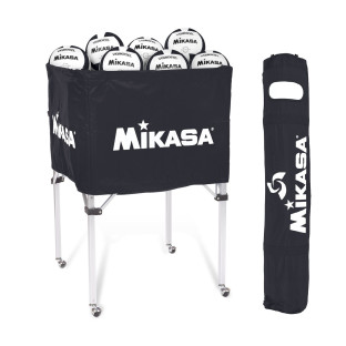 Mikasa® VQ2000 Black/White Volleyballs with Cart Pack