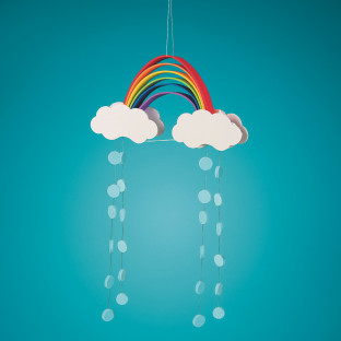Foam Rainbow Mobiles Craft Kit