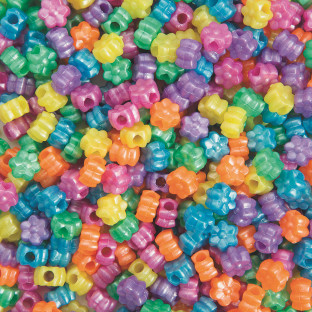 Flower Pony Beads 1/2-lb Bag