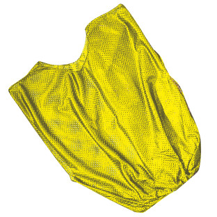 Single Nylon Youth Pinnie - Yellow