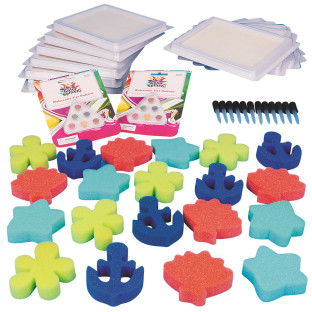 Instant paint, pads, pipettes and foam stamps!